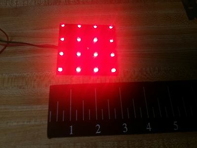 "SPECTRUM CORP  Scoreboards 16 Bright RED LED LIGHT PANEL C4-CR101 3/4""apart 2.6"""
