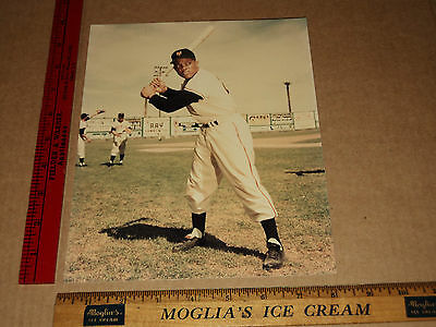 Vintage NY Giants Mets HOF Wille Mays Classic 70's Bat Pose Color Photo Image