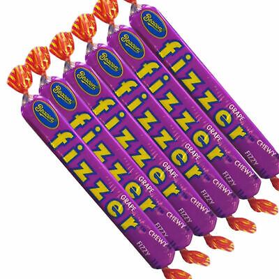 72 x Beacon Fizzers GRAPE Bulk Sweets Party Favours Candy Wrapped Lollies