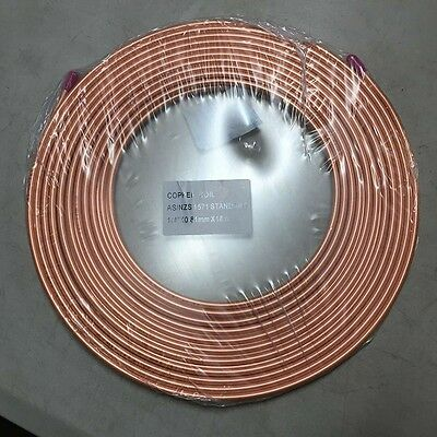 """copper pancake coil 1/4"""" x 10M roll,air conditioning pipe tube conditoner"""