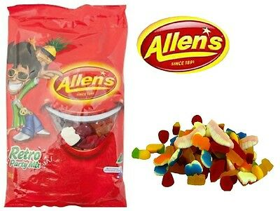 1 x Allens Retro Party Mix 1kg Lollies Bulk Party Favours Sweets Party Candy