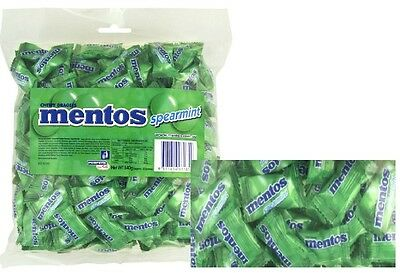 Bulk Lollies 1 x Mentos Spearmint Chews 200 Pieces Candy Buffet Party Favour