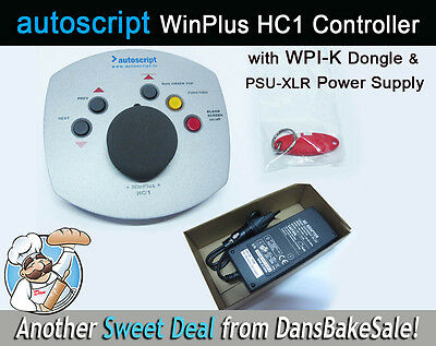 Autoscript WinPlus HC-1 5 Button Controller, WPI-K Dongle & PSU-XL Power Supply