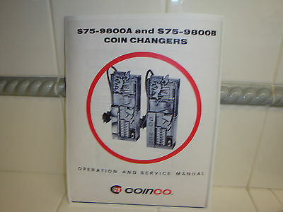 Coinco S75-9800A & S75-9800B Coin Changers Operation and Service Manual