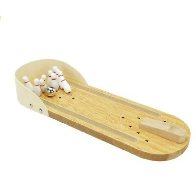 Mini Wooden Desktop Bowling Game Set Miniature Bowling Alley Game Desk Toys