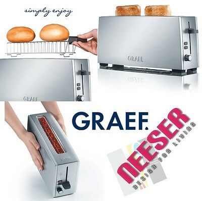 design Long slot toaster for 2 toasts Stainless steel GRAEF GERMANY TO90 quality
