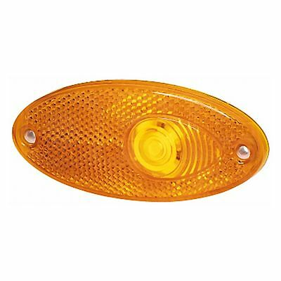 Side Marker Light: Oval Marker Amber with Amber Lens | HELLA 2PS 964 295-007