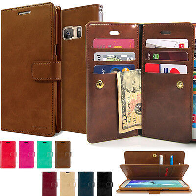 Hard Book Cover Rugged Wallet Armor Multi flip case for Samsung Galaxy iPhone LG