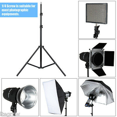 Photography Softbox Umbrella Flash Video Light Stand Photo Studio Tripod Support