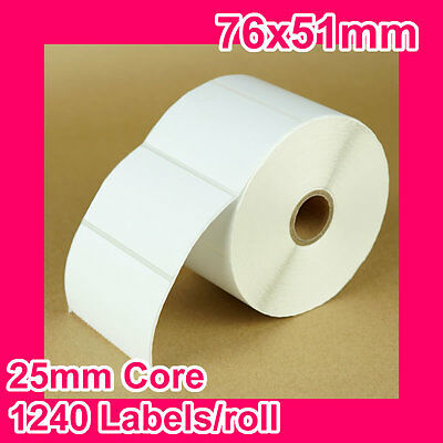 8 rolls of 76x51mm Thermal Direct Label for Zebra/TSC/SATO etc.