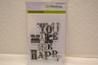 CraftEmotions clearstamps  - background you make me happy 011132