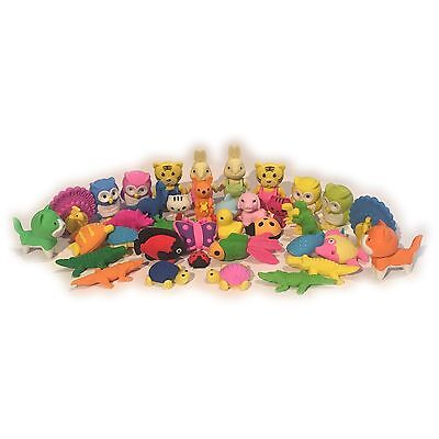 24 x Novelty Animal Sealife Erasers Insect Animal Rubbers Gift Toy Party Bag