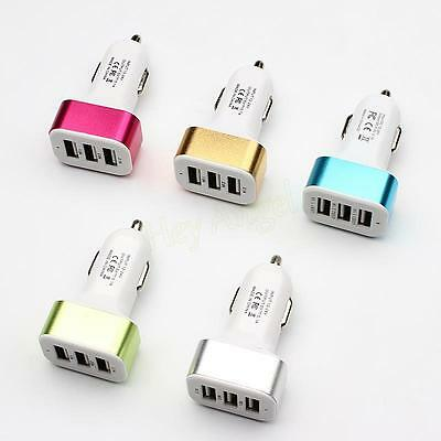 3 Port USB In Car Charger 5.1a Fast Adapter For Galaxy iPhone 6 / 6 Plus