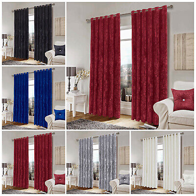 Black & Gold Jacquard Curtains Ring Top Fully Lined Eyelet Ready Made Tieback