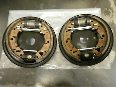 Rover Mini Fully Built Rear Brake Back Plates - Genuine Parts!