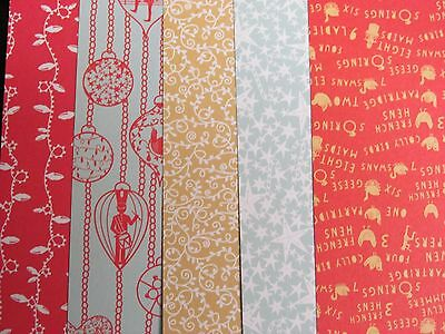 PAPERMANIA 6''x 6'' CHRISTMAS PATTERNED PAPER PACK~20 SHEETS~5 DESIGNS~CRAFT~ART