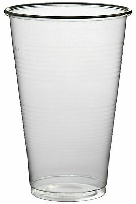 Clear Plastic Half Pint Cups, Strong Cups, 300ml, 10oz. Disposable