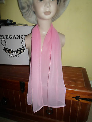 1 NEW Mixed Fibre Ladies Scarf PLAIN GRADUATING PINKS ~ Xmas Gift Idea  #76