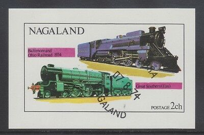 Nagaland 1974 - Locomotive - Treni - Train - Ch. 2 - Usato