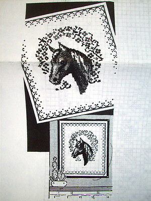 Horse Head vintage embroidery & / or  cross stitch transfer 110