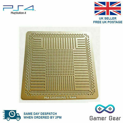 Sony PS4 GPU CXD90026G Reballing Solder Direct Heat Stencil Template