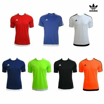 Boys Adidas Estro 15 Top Short Sleeve T Shirt Kids Football Training Size M L XL