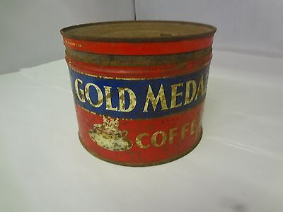 Vintage Gold Medal  Brand Coffee  Tin Advertising Collectible M-27