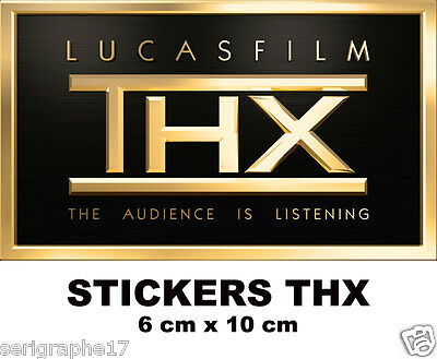 5  adhesifs stickers THX  home sound system theater sticker 6 x 10 cm