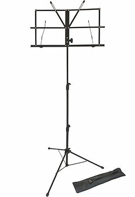 Opus LMS02 Lightweight Folding Music Stand Supplied with Carrying Bag