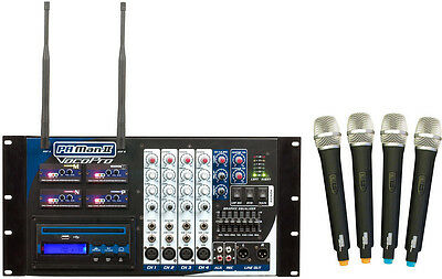 Vocopro Four Channel Wireless All-In-One P.A. System / Freq. M,N,O,P