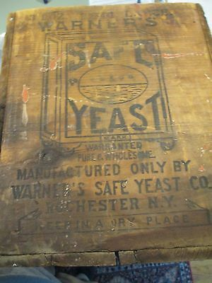 Warner's Safe Cure Rochester NY Yeast Box Crate bottle Wooden