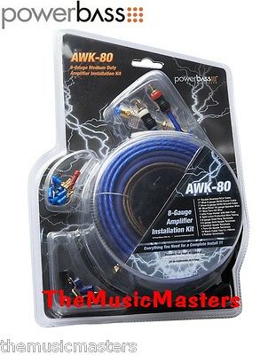 8 Gauge Premium HQ Amplifier Installation Wiring Kit Car Power Amp Wire & Cables