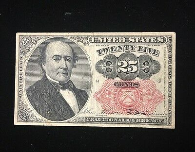 1875 United States 25 Cents Fractional Note FR-1308 Fifth Issue