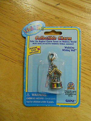 RARE WEBKINZ WISHING WELL CHARM  New in Package w/ Code  FREE SHIPPING!