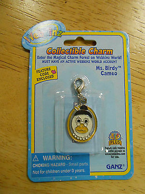 NEW WEBKINZ Ms. Birdy Cameo Collectible Charm - Sealed with CODE