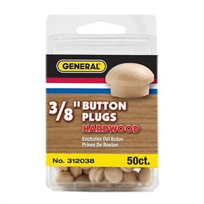 "312038 3/8"" Button Head Wood Plugs - Birch 50/Pcs, Part 312038, General Tools"