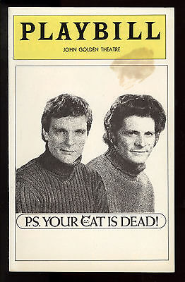 PS Your Cat is Dead Golden Theatre Playbill 1975 NYC Keir Dullea Tony Musante VG