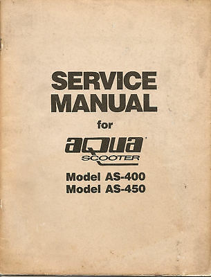 Aquascooter Service Manual For Model As400 & As450