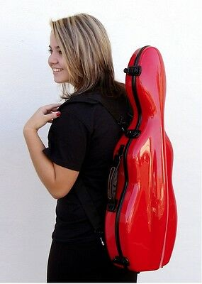 TONARELI Fiberglass Violin 4/4 Full Hard Case RED - Factory Second