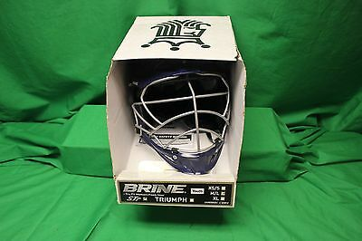 Brine STR Lacrosse Helmet Blue Size M/L INCLUDES CHIN STRAP NEW IN BOX