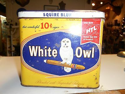 Vintage White Owl Squire Blunts Cigar Tin