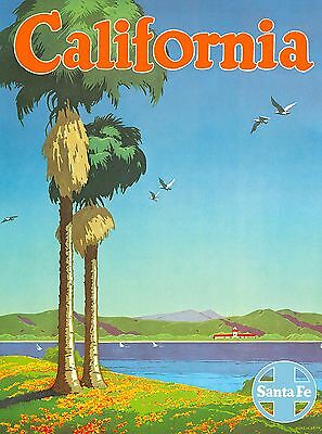 California Santa Fe United States of America Travel Poster Advertisement