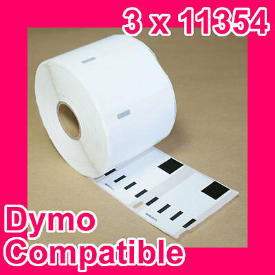 3 Rolls of Quality Compatible 11354 Label for DYMO LabelWriter