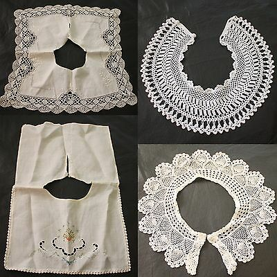 Vintage Crochet Embroidered Lace Collars Lot of 4 Rendesvous as is