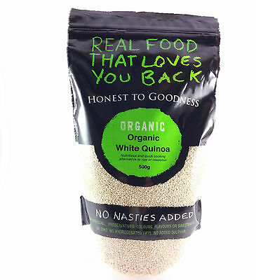 Honest to Goodness Organic White Quinoa 500g in resealable bag