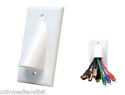 Single Gang Organize Bulk Wire Cable Wall Face Plate - White