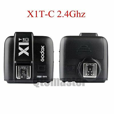 US Godox X1T-C 2.4G E-TTL Wireless Flash Transmitter Trigger For Canon EOS 6D 7D