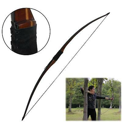 "68"" Traditional Archery Recurve Bow 445# Laminated Hunting Longbow Horsebow RH"