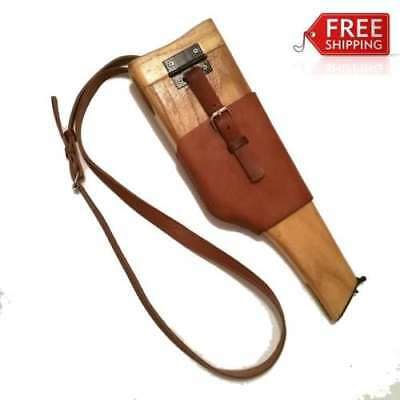 Ww2 Chinese Navy Military Mauser Broomhandle Leather Holster And Wood Stock