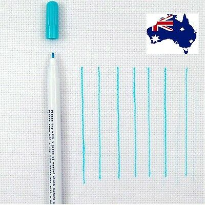 Water Erasable Pens Grommet Ink Fabric Marker Marking Blue Color Sewing Tool